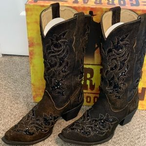 Corral distressed and sequin boots